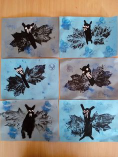 halloween, netopýři Halloween Arts And Crafts, Diy Halloween Costumes, Costume Ideas, Fall Crafts For Toddlers, Autumn Leaves Craft, October Art, Halloween Door Decorations, Leaf Crafts, Nature Crafts