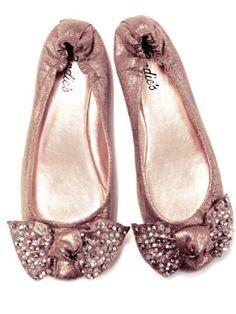 sparkly pink ballet flats :)