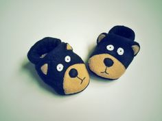 Baby Black Bear Booties Soft Sole Baby Shoes Animal Slippers Baby Booties Children's Shoes Baby Shower Baby Gift Newborn Baby Shoes by Cuddlythreads on Etsy
