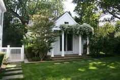 Guest house (or kids cabin) Outdoor Rooms, Outdoor Gardens, Outdoor Living, Small Buildings, Garden Buildings, Grey Houses, Log Houses, Cabins And Cottages, Log Cabins
