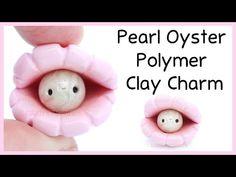Kawaii Pearl Oyster Charm polymer clay tutorial