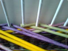 Поделка изделие Плетение Мк цветные ажурные колонны Бумага газетная фото 1