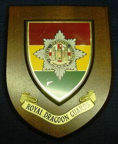 Royal Dragoon Guards Regimental Handpainted Plaque