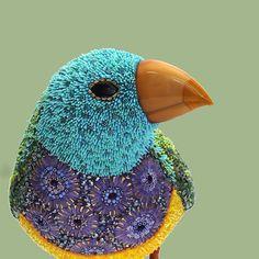 Mosaic Bird Sculpture by Dusciana Bravura