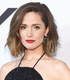 Rose Byrne's tousled bob + statement red lips