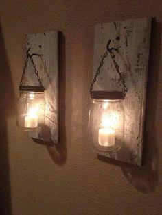 Mason jar candles. :)