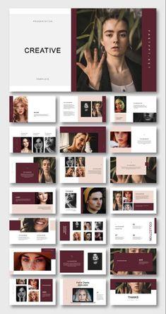 How To Brochure Design In Photoshop Portfolio Design Layouts, Book Design Layout, Portfolio Ideas, Portfolio Web, Fashion Portfolio Layout, Magazine Layout Design, Keynote Presentation, Design Presentation, Presentation Templates