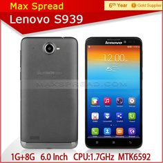 6 inch Lenovo S939 3G 1280x720 HD MTK6592 Octa Core 1.7GHz cheapest china mobile phone  1.Android4.2  2.1.7Ghz  3.GPS,WIFI,3G