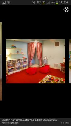 What a beautiful idea for a children's play room : )