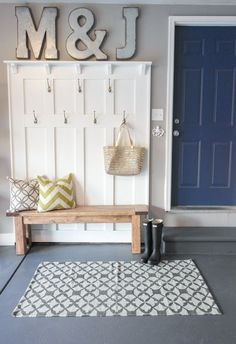 Garage Mudroom Makeover - One Room Challenge - Sypsie.com. I am in love with this garage!