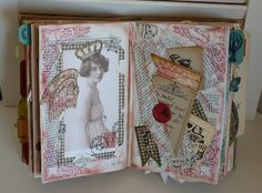 altered book by Michelle woodandfabric