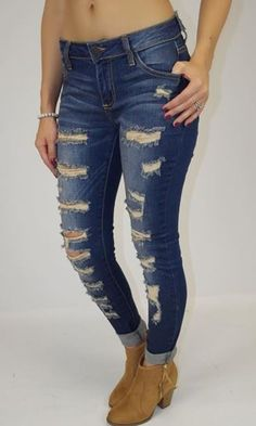 A totally cool pair of #WomensDistressedJeans designed for the woman of today....