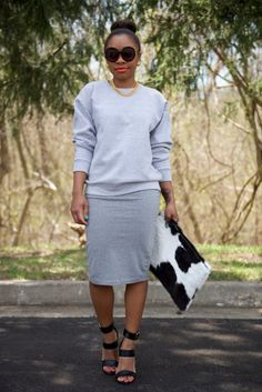 StyleLust Pages: In The Name Of Gray: I would wear this to work. Cute outfit!