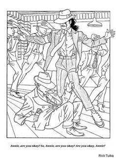 free printable coloring page of michael jackson