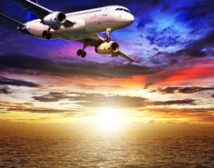 5100x4000 Avións Avión comercial Cielo Amaneceres y atardeceres Nube Vuelo Оcaso Aviación