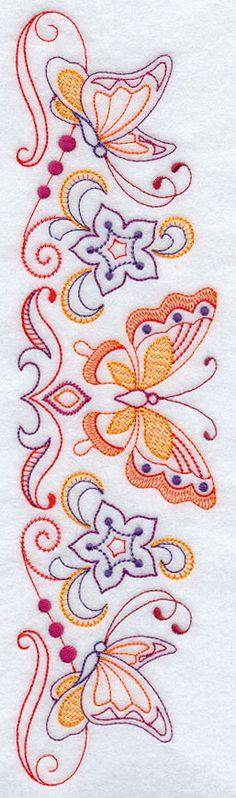 Sweet Dreams Butterflies Spray 1 - Facing Right design (E9826) from www.Emblibrary.com