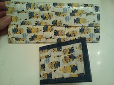 Despicable me 2 minions duck tape wallets  order at  www.facebook.com/lissasdesign