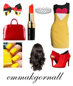"""""""Queen of Hearts"""" by emmakgornall ❤ liked on Polyvore featuring Disney, Moschino, Love Moschino, Louis Vuitton, Bobbi Brown Cosmetics and Bling Jewelry"""