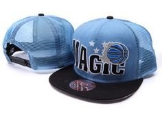Mitchell & Ness NBA Orlando Magic Blue Black Snapbacks46 A Top