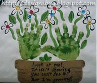 What a fun mother's day art project - I'd use fingerprints for the centers of the flowers.