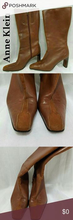 EUC Anne Klein Rockin' Leather Boots I wish I could show you how great of shape these boots are in.  The upper is near flawless condition. The heels have very little wear. All leather upper. 2 inch heels Anne Klein Shoes Heeled Boots