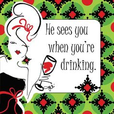 C.R. Gibson Working Girls Design Decorated 3-Ply Paper Napkins, 5-Inch, 20-Pack, He Sees You When You're Drinking. Shopswell | Shopping smarter together.™