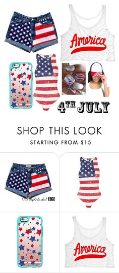 """""""Happy 4th"""" by julianae101 ❤ liked on Polyvore featuring Topshop and Casetify"""