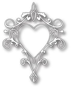 Memory Box Dies, Queen of Hearts Flourish Memories Box, Kirigami, Memory Box Dies, Stencil Patterns, Tattoo Stencils, Scroll Saw, Queen Of Hearts, Pyrography, Scrapbook Paper