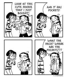 C Cassandra comic Sarah Andersen, C Casandra Comics, Cassandra Calin, Funny Cute, Hilarious, The Awkward Yeti, Girl Struggles, Girl Problems, Funny Comics