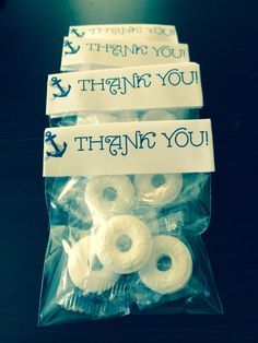 Life Saver Mints. Thank you favors for Ahoy It's A Boy Baby Shower