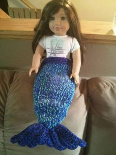 "Crocheted Mermaid tail for 18"" Doll (free Pattern)"