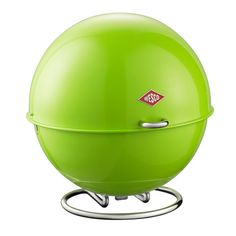 Cool lime-green storage ball for cooking and baking ingredients or baked goods