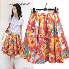 Free ship,lady/women  print short skirt plus size beach bust skirt bohemia a-line skirt bust skirt 601,86 руб.