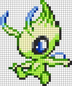 Legendary Celebi 251 Perler Bead Pattern / Bead Sprite