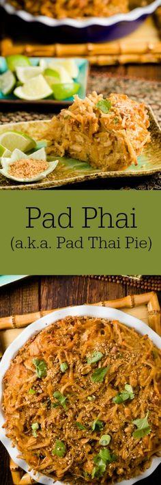 Pad Phai (a.k.a. Pad Thai Pie).  Totally delish Thai comfort food.