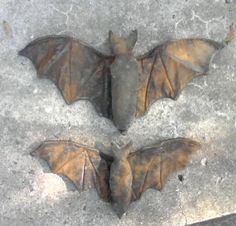 Handmade Halloween Bats with wired wings. Halloween Prop, Halloween Outside, Halloween Goodies, Halloween Projects, Diy Halloween Decorations, Holidays Halloween, Halloween Stuff, Halloween Ideas, Favorite Holiday