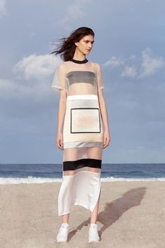Sheer & monochrome styling from Karla Spetic's S/S 14 collection