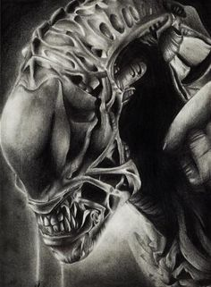 Hey Guys presenting another of my work with pencil Alien tribute to Giger drawn with pencil can follow, see and comment my other jobs in FACEBOOK..... www.facebook.com/kain.oc.9 and soon on youtube...