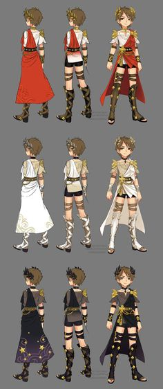this is the myth theme costume i designed for the cleric class of MMO game Dragon Nest in 2014. =) the other classes of thisseries &nbsp...