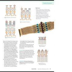Art Deco bracelet pattern by smadar grossman