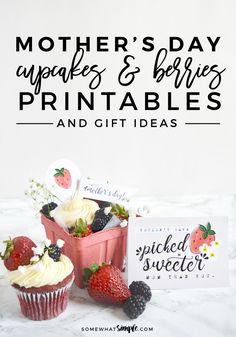 Mother's Day Gift Printables - We LOVE this sweet + simple Mother's Day gift idea! These adorable Mother's Day Gift Printables are sure to let mom know how much you love her!