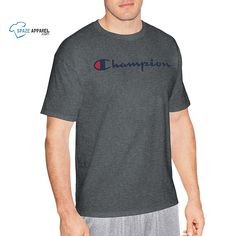 Champion Men's Graphic Jersey T-Shirt - 24 Designs - Short Sleeve - Size Online Clothing Stores, Wholesale Clothing, Blank T Shirts, Best Brand, Champion, Polo Shirt, Polo Ralph Lauren, Mens Tops, Clothes