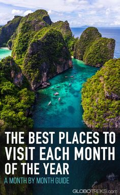 The Best Places To Visit Each Month of the Year Os melhores lugares para visitar cada mês do ano, guia mês a mês Europe Travel Tips, Travel Goals, Travel Guides, Travel Info, Travel Hacks, Budget Travel, Travel Packing, Travel Backpack, Us Travel Destinations