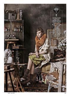 Die Neue Boheme: Renee Meijer And Gwen Loos By Carl Bengtsson For Elle Germany April 2015 - Prada skirt