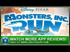 Monsters Inc Run iPhone App - Best iPhone App - Apps #iphone #android #apps