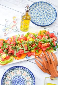 3x3 food bloggers maple lime sriracha roasted vegetables from heirloom tomato watermelon basil salad watermelon basil saladhealthy food recipesheirloom forumfinder Choice Image