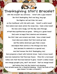The Story of Thanksgiving - bracelet