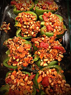 Creole Stuffed Peppers (whole life compliant, remove beans for paleo compliance)