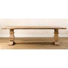 Salvaged Trestle Farmhouse Rectangular Wooden Table – Wazo Furniture