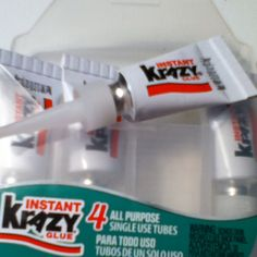 Single use Krazy glue! This is stuff is great! Tips, Crates, Counseling
